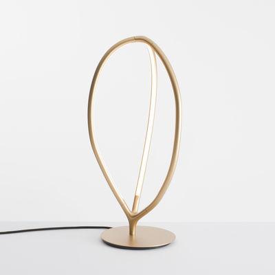 Luminaire - Lampes de table - Lampe de table Arrival LED / Aluminium - H 66 cm - Artemide - Laiton - Aluminium