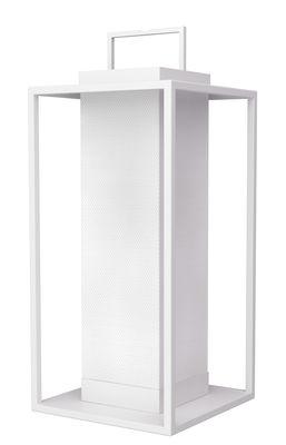 Lampe solaire La Lampe Pacha / LED - Hybride & connectée - Maiori blanc en métal