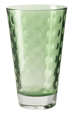 Tableware - Wine Glasses & Glassware - Optic Long drink glass - H 13 x Ø 8 cm - 30 cl by Leonardo - Green - Thin layered glass