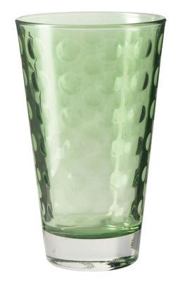 Tischkultur - Gläser - Optic Longdrink Glas / H 13 cm x Ø 8 cm - 30 cl - Leonardo - Grün - beschichtetes Glas
