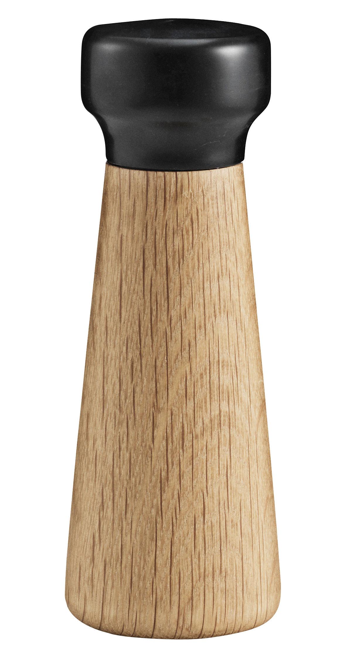 Coquetiers - Sel, poivre et épices - Moulin à poivre Craft Small - Normann Copenhagen - Marbre noir / POIVRE - Chêne massif, Marbre