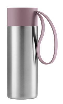 Mug isotherme To Go Cup / Avec couvercle - 0,35 L - Eva Solo acier brossé,rose nordique en métal