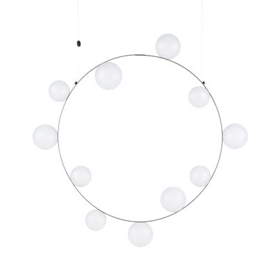 Leuchten - Pendelleuchten - Hubble Bubble 11 Pendelleuchte / LED - Ø 99 cm / Gefrostetes Glas - Moooi - Gefrostetes (Opal)Glas - geblasenes Glas, Metall