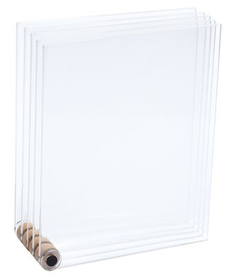 Decoration - Home Accessories - Photo frame - 5 transparent frames by L'atelier d'exercices - Transparent - Acrylic, Natural beechwood, Steel