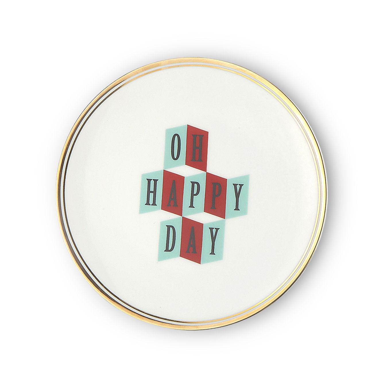 Tavola - Piatti  - Piatto da dessert Oh happy day - / Ø 17 cm di Bitossi Home - Oh Happy Day - Porcellana