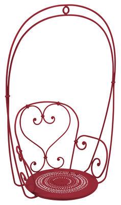 Arredamento - Poltrone design  - Poltrona sospesa 1900 - a dondolo di Fermob - Peperoncino - Acciaio