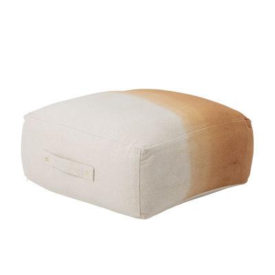 Mobilier - Poufs - Pouf Cara / 60 x 60 cm - Coton - Bloomingville - Ocre - Coton, Polystyrène