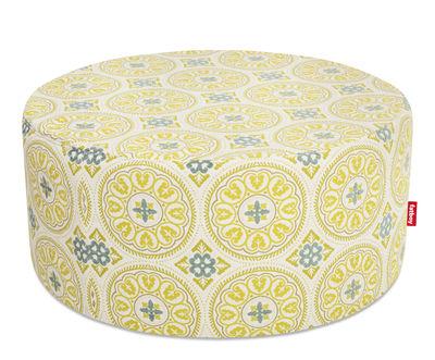 Pouf PFFFH / Pour l'extérieur - Ø 90 cm - Fatboy Ø 90 x H 40 cm jaune en tissu