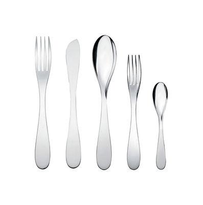 Set de couverts Eat.it / 1 personne - 5 pièces - Alessi métal brillant en métal
