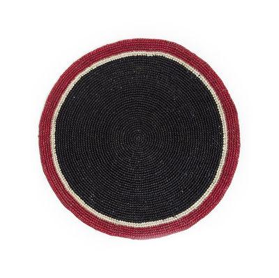 Set de table Globe / Raphia tressé main - Maison Sarah Lavoine rouge,noir en fibre végétale