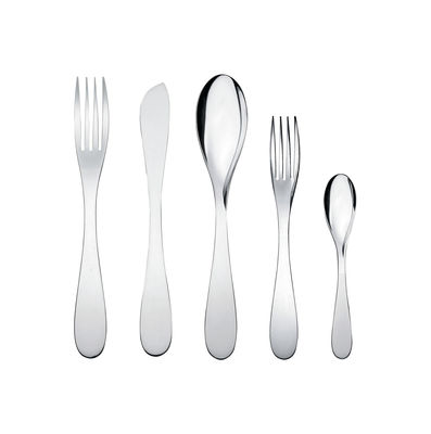 Image of Set di posate Eat.it - / 1 persona - 5 pezzi di Alessi - Metallo lucidato - Metallo