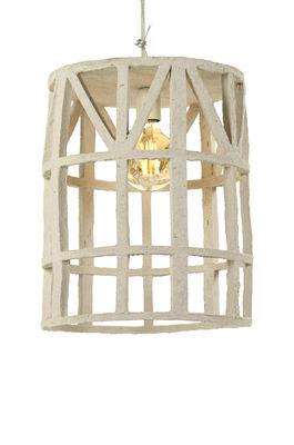 Illuminazione - Lampadari - Sospensione Marie - / Carta riciclata - Dimensione L di Serax - Beige / Dimensione L - Cartapesta riciclata