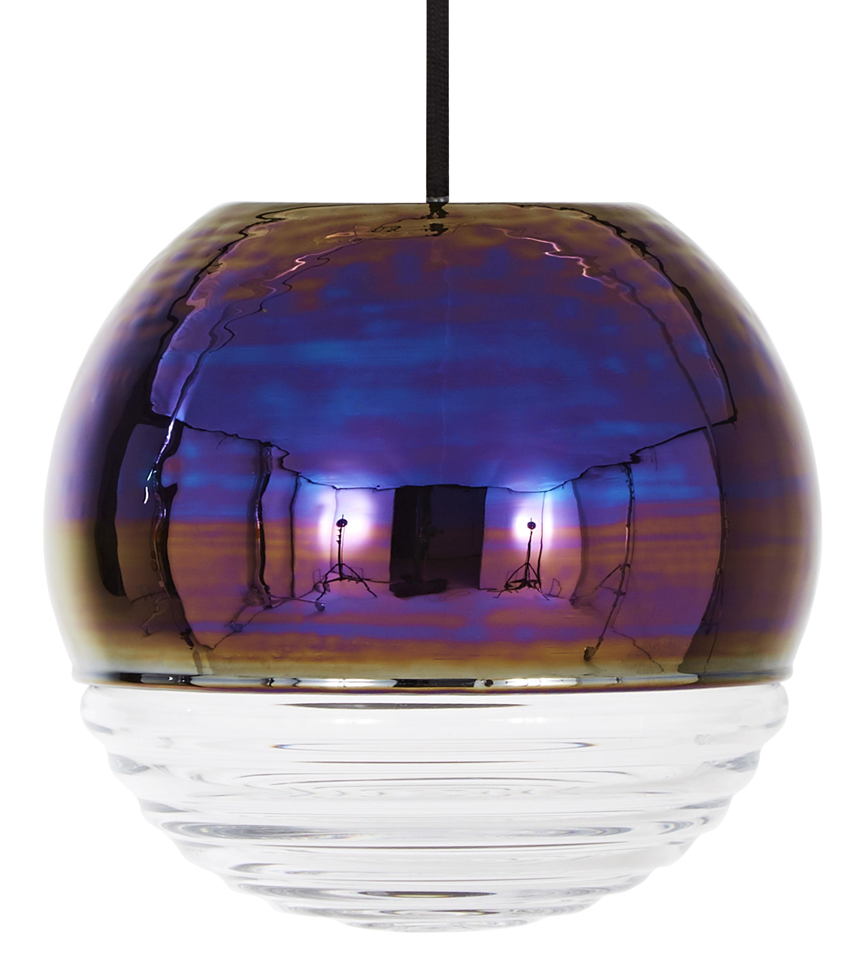 Luminaire - Suspensions - Suspension Flask Ball / Ø 18 cm - Tom Dixon - Iridescent / Transparent - Verre