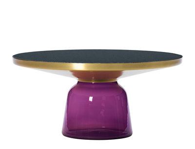 Table basse Bell Coffee / Ø 75 x H 36 cm - Plateau verre - ClassiCon violet en verre