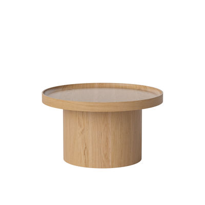 Table basse Plateau Medium / Ø 61 x H 34 cm - Plateau amovible - Bolia bois naturel en bois