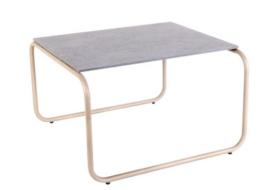 Table basse Yoso Small / 54 x 54 x H 35 cm - Ciment - XL Boom gris,quartz en métal