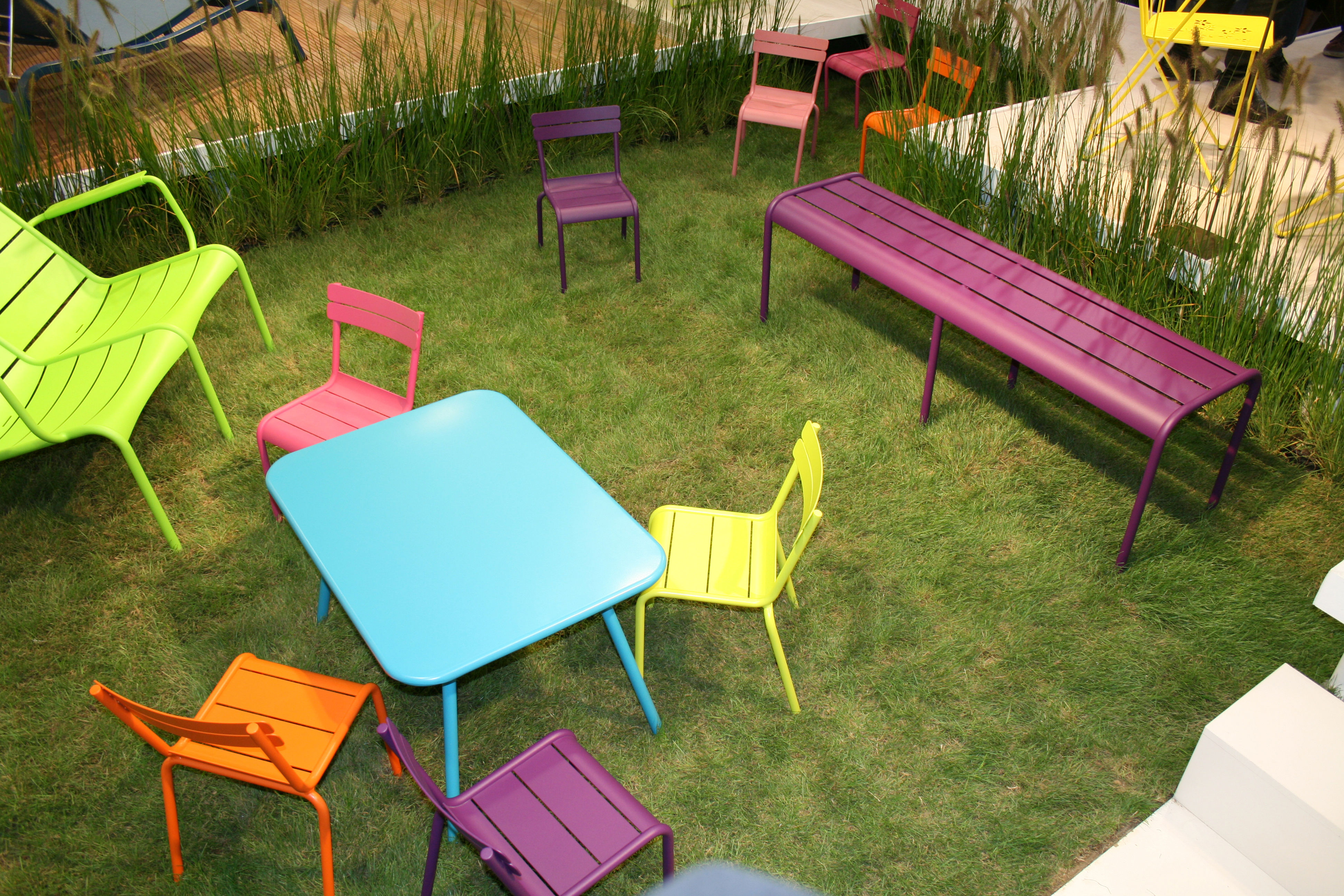 Table enfant Luxembourg Kid / Aluminium Turquoise - Fermob | Made In ...
