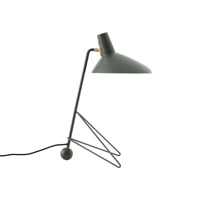 Lighting - Table Lamps - Tripod HM9 Table lamp - / 1953 model by &tradition - Moss green - Aluminium, Steel