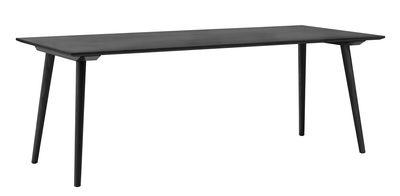 Table rectangulaire In Between / 90 x 200 cm - Chêne - &tradition chêne teinté noir en bois