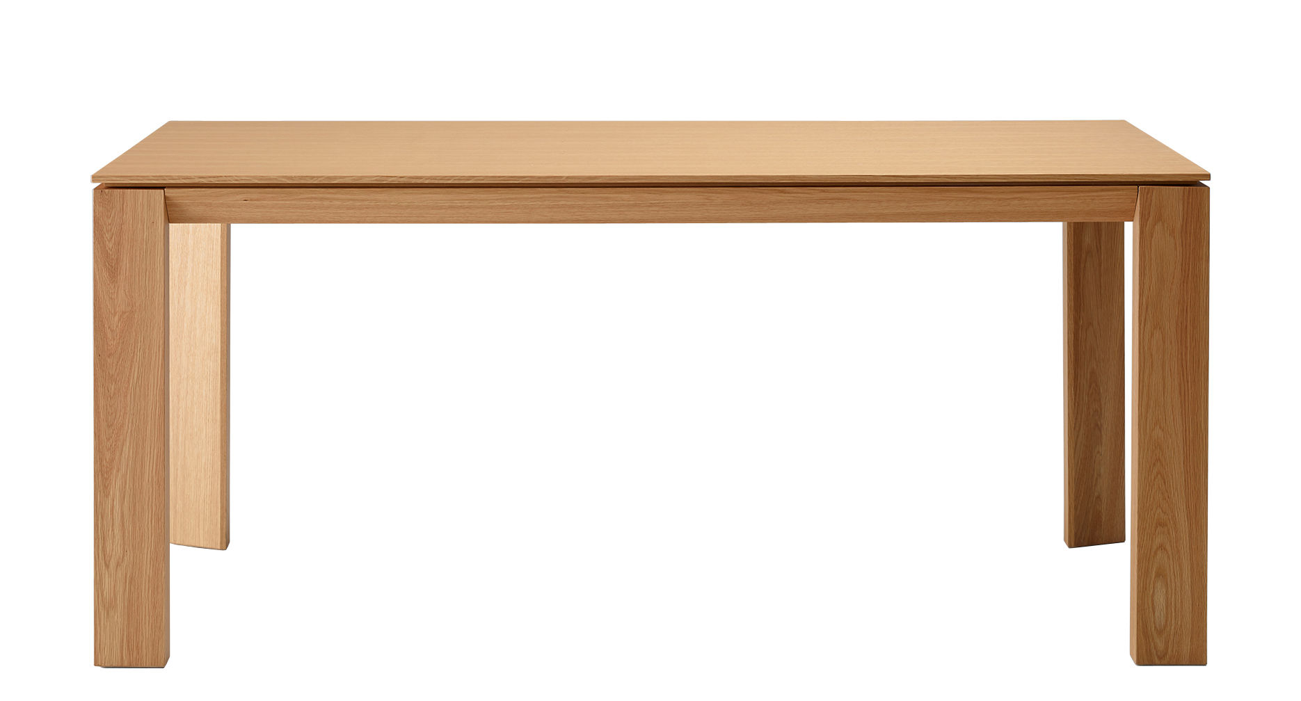 Tendances - À taaable ! - Table rectangulaire Iru / 180 x 100 cm - Ondarreta - Chêne naturel - Chêne massif