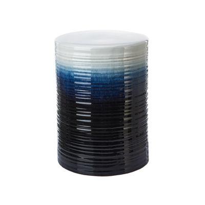 Mobilier - Tabourets bas - Tabouret Lagoon / Céramique - Ø33 x H45 cm - Pols Potten - Lagoon / Bleu - Céramique émaillée