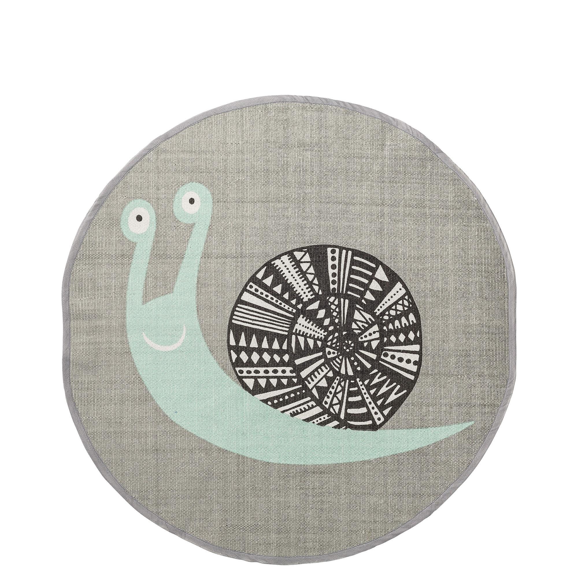 Déco - Pour les enfants - Tapis Escargot / Coton - Ø 80 cm - Bloomingville - Ø 80 cm / Escargot - Coton