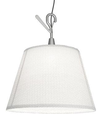 Leuchten - Tischleuchten - Tolomeo Paralume LED Outdoor Taschenlampe outdoorgeeignet / Handlampe zum Aufhängen - LED - Artemide - Weiß - Aluminium, Thuia-Stoff
