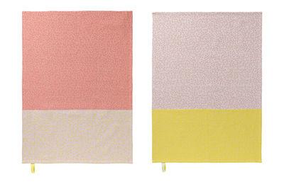 Torchon Splash / Lot de 2 - Nomess rose,jaune en tissu