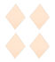 Diamond Wall mirror - / Set of 4 - 16 x 22 cm by House Doctor