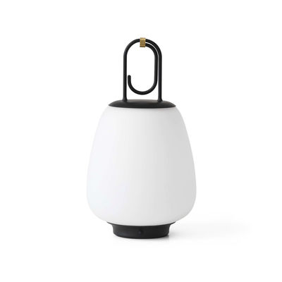 Lighting - Table Lamps - Lucca SC51 Wireless lamp - / LED - mouth-blown glass by &tradition - Black - Epoxy lacquered metal, Mouth blown glass