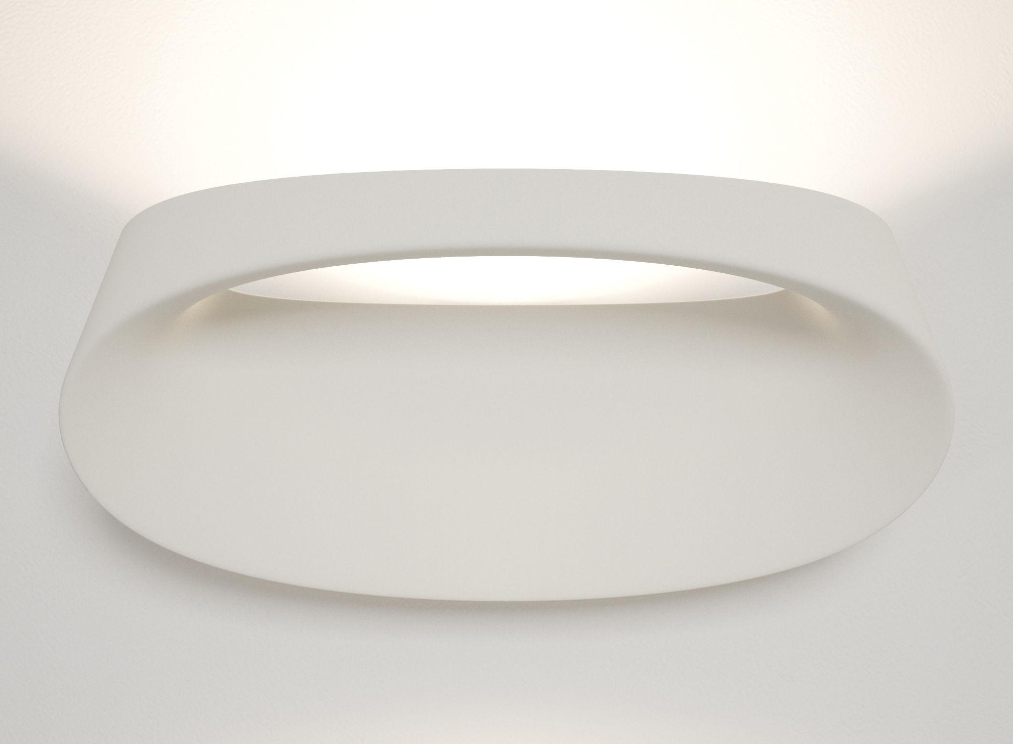 Illuminazione - Lampade da parete - Applique Bonnet - LED di Fontana Arte - Bianco - Alluminio, Tecnopolimero