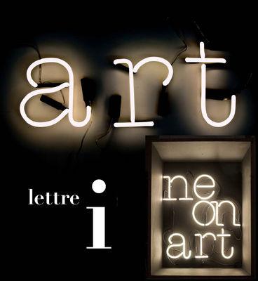 Illuminazione - Lampade da parete - Applique con presa Neon Art - Lettera I di Seletti - bianco / cavo nero - Vetro
