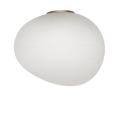 Applique Gregg Media / Plafonnier - Verre - L 31 cm - Foscarini blanc,or en verre