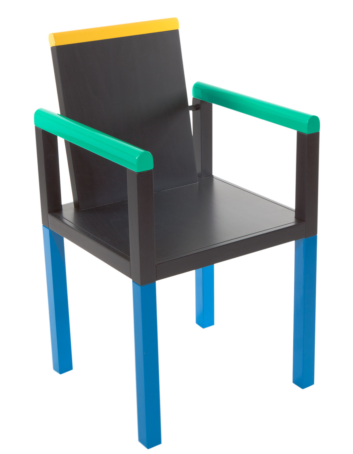 Furniture - Chairs - Palace Armchair - by George J. Sowden / 1983 by Memphis Milano - Multicolored - Lacquered wood