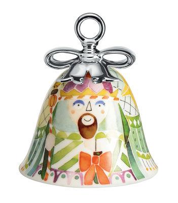 Boule de Noël Holy Family / Cloche Melchior - Porcelaine peinte main - Alessi multicolore en céramique