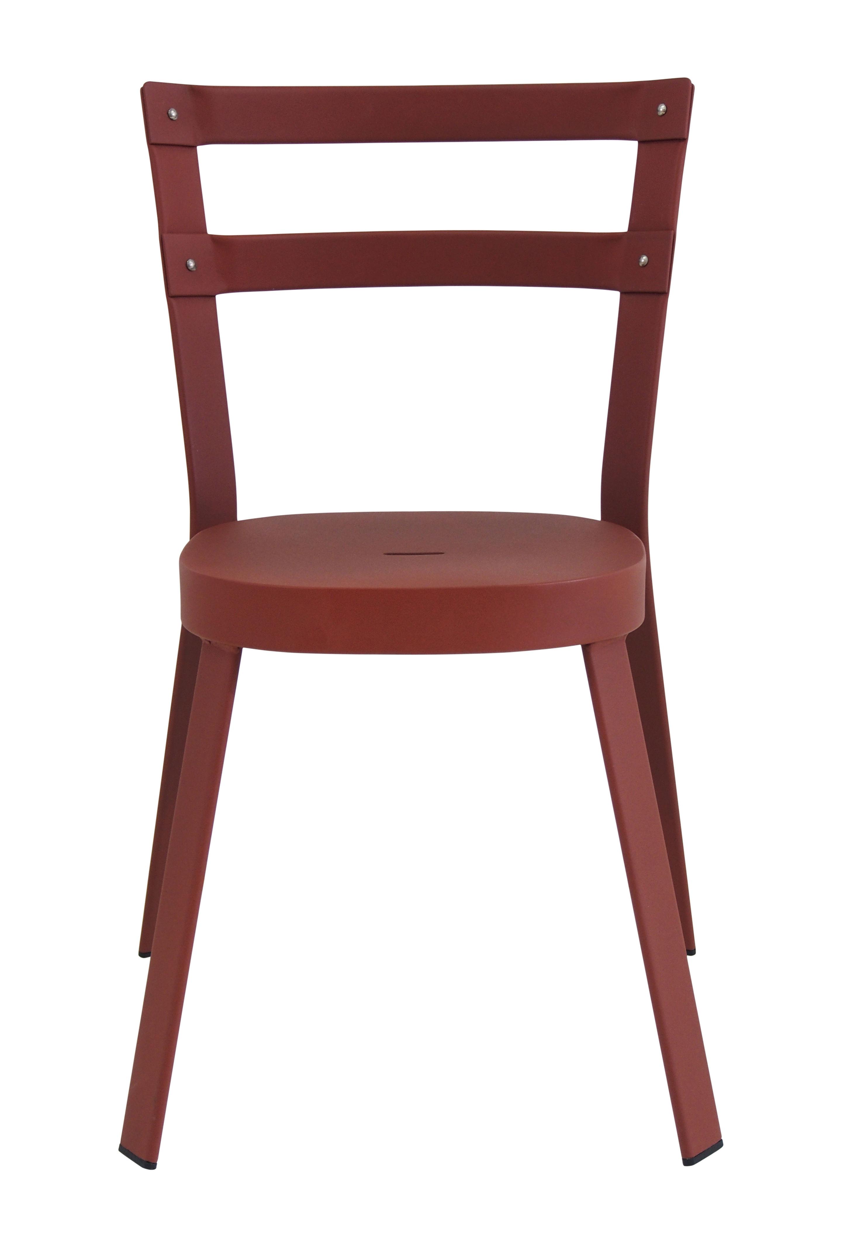 Mobilier - Chaises, fauteuils de salle à manger - Chaise empilable Thor / Métal - Emu - Marron Corten - Acier verni