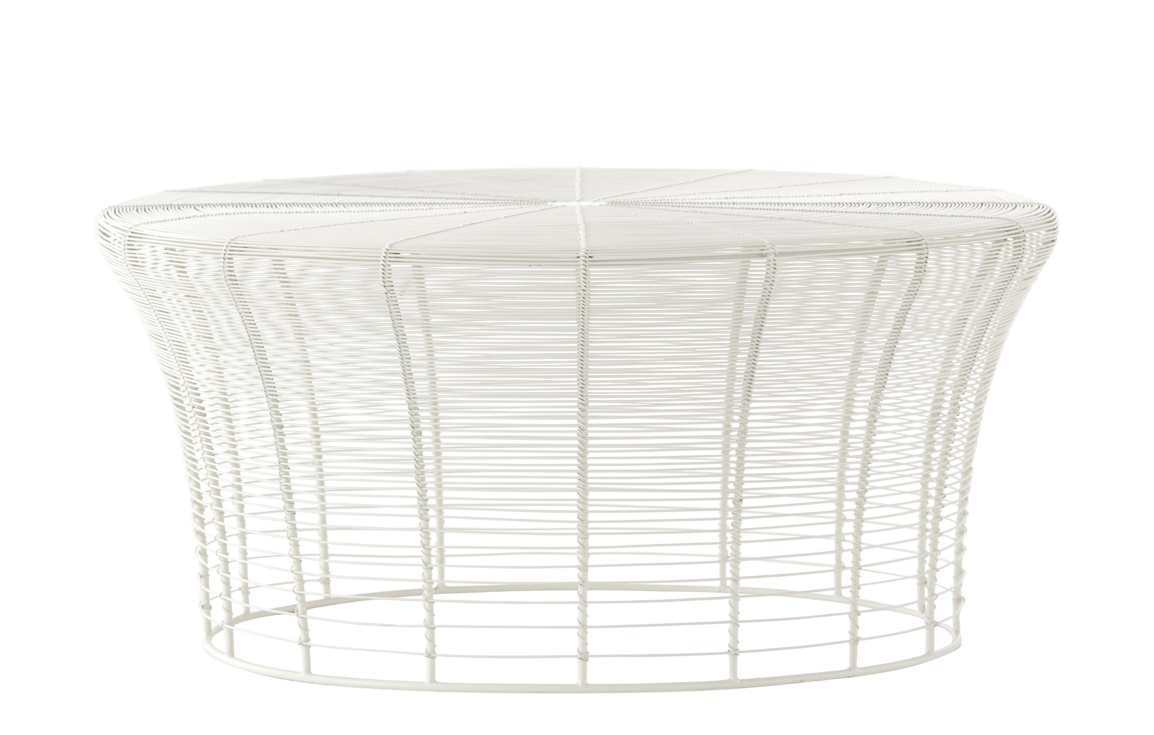 Möbel - Couchtische - Aram Couchtisch / handgefertigt - Ø 71 cm x H 33 cm - Gan - Weiß - Pulverbeschichteter Edelstahl
