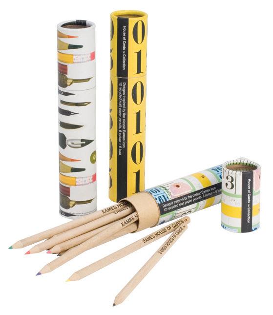 Déco - Accessoires bureau - Crayon de couleur Eames Étui de 12 crayons de couleur - W2 Products - Mètre mesureur - Étui multicolore - Papier