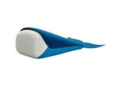 Interni - Per bambini - Cuscino Whale Mini / Balena - 33 x 20 cm - EO - L 33 cm / Blu & Bianco - Espanso, Tessuto Kvadrat
