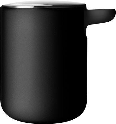 Déco - Salle de bains - Distributeur de savon - Menu - Noir - Couvercle inox mat - Acier inoxydable, Plastique