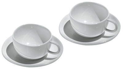 Tableware - Coffee Mugs & Tea Cups - Fruit basket Espresso cup - Set of 2 cups + 2 saucers by Alessi - White - Bone china