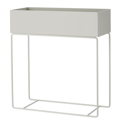 Interni - Vasi e Piante - Fioriera Plant Box / L 60 x H 65 cm - Ferm Living - Grigio - Acciaio laccato epossidico