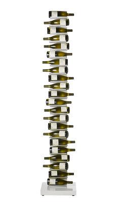 Tischkultur - Bar, Wein und Apéritif - Ptolomeo Vino Flaschenhalter / mit Sockel - H 213 cm - Opinion Ciatti - Weiß - lackiertes Metall