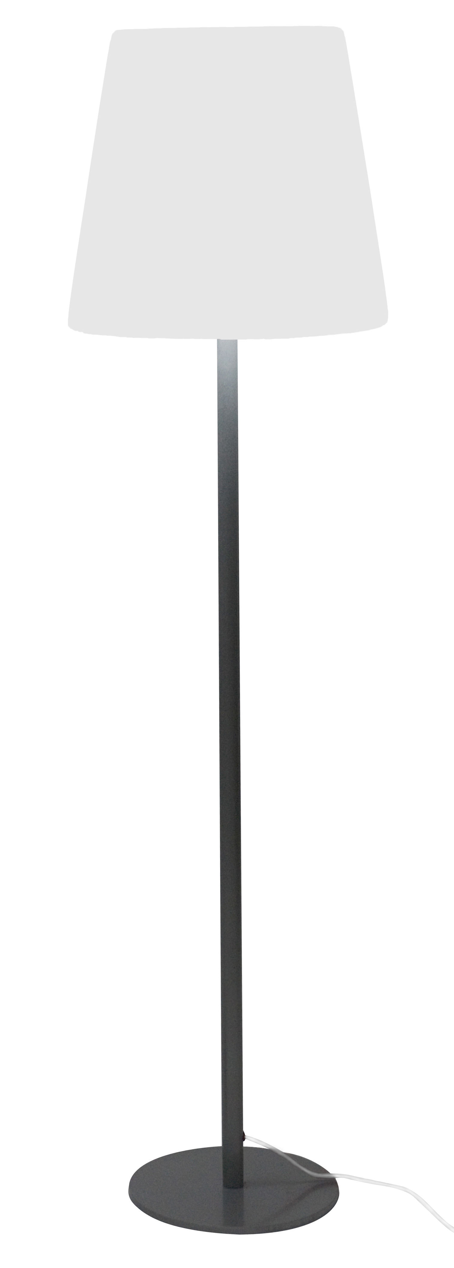 Lighting - Floor lamps - Ali Baba Floor lamp by Slide - Grey base / White lampshade - Polythene, Stainless steel