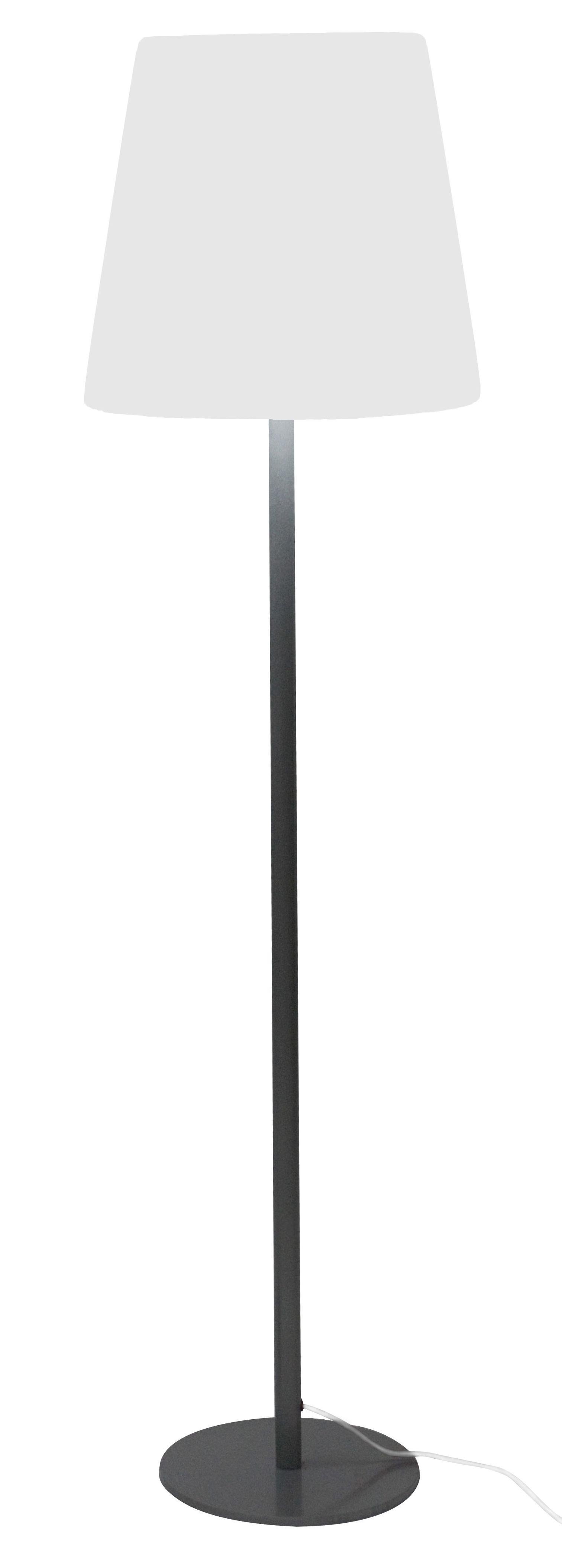 Luminaire - Lampadaires - Lampadaire Ali Baba - Slide - Version à poser : pied avec base - Inox, Polyéthylène