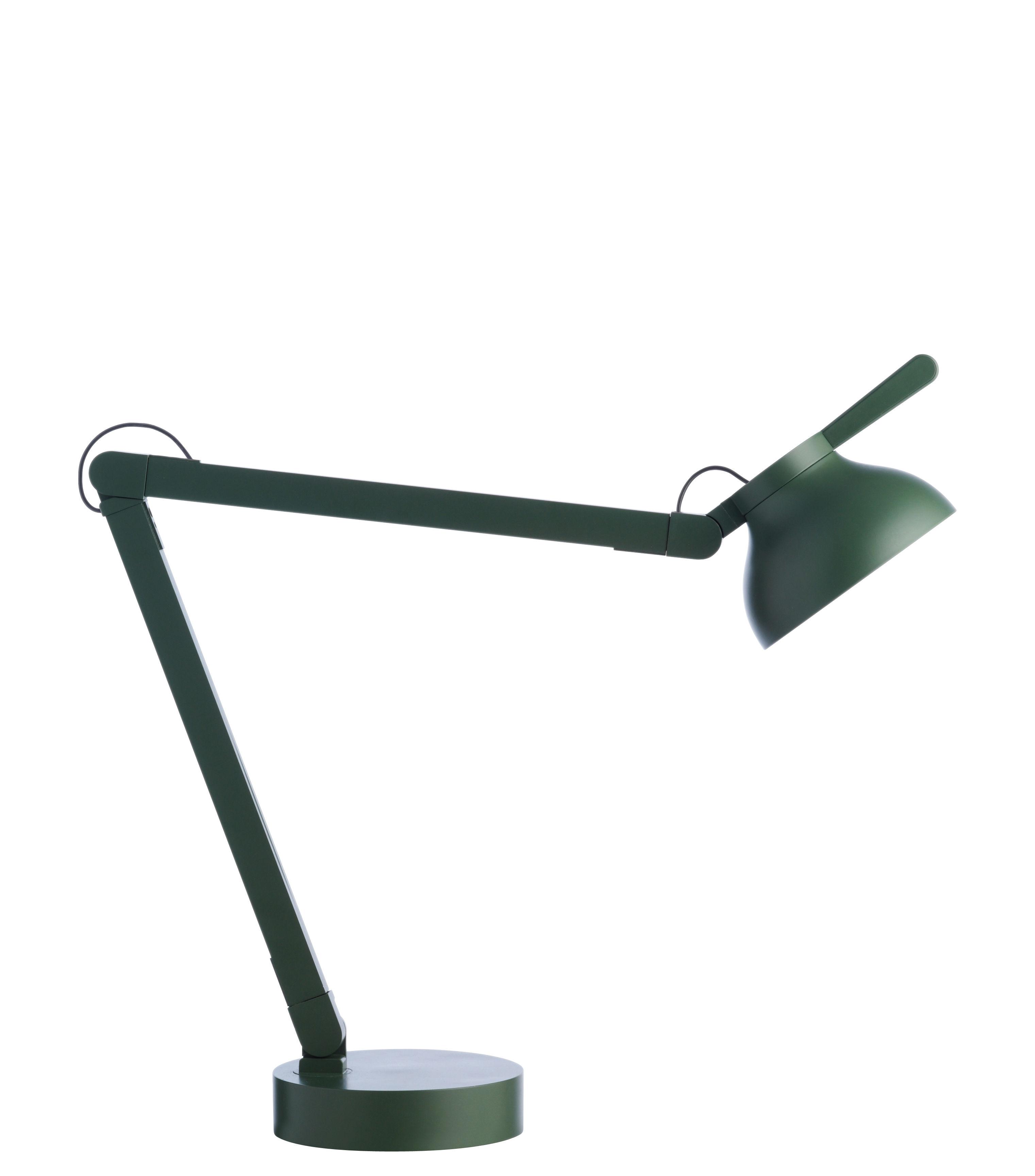 Luminaire - Lampes de table - Lampe de table PC by Pierre Charpin / LED - wrong.london - Vert - Aluminium extrudé, Fonte, Polycarbonate