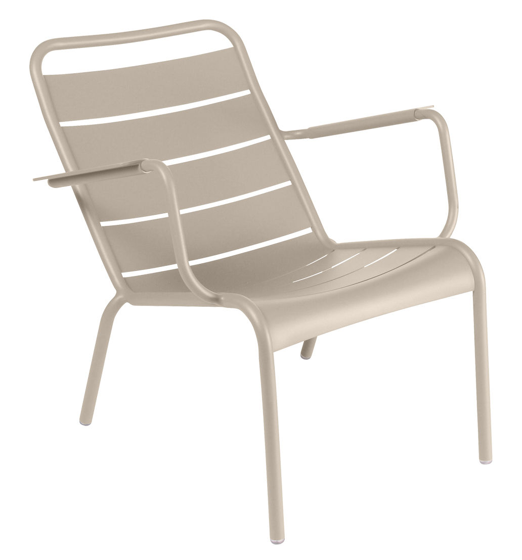Furniture - Armchairs - Luxembourg Low armchair by Fermob - Nutmeg - Lacquered aluminium