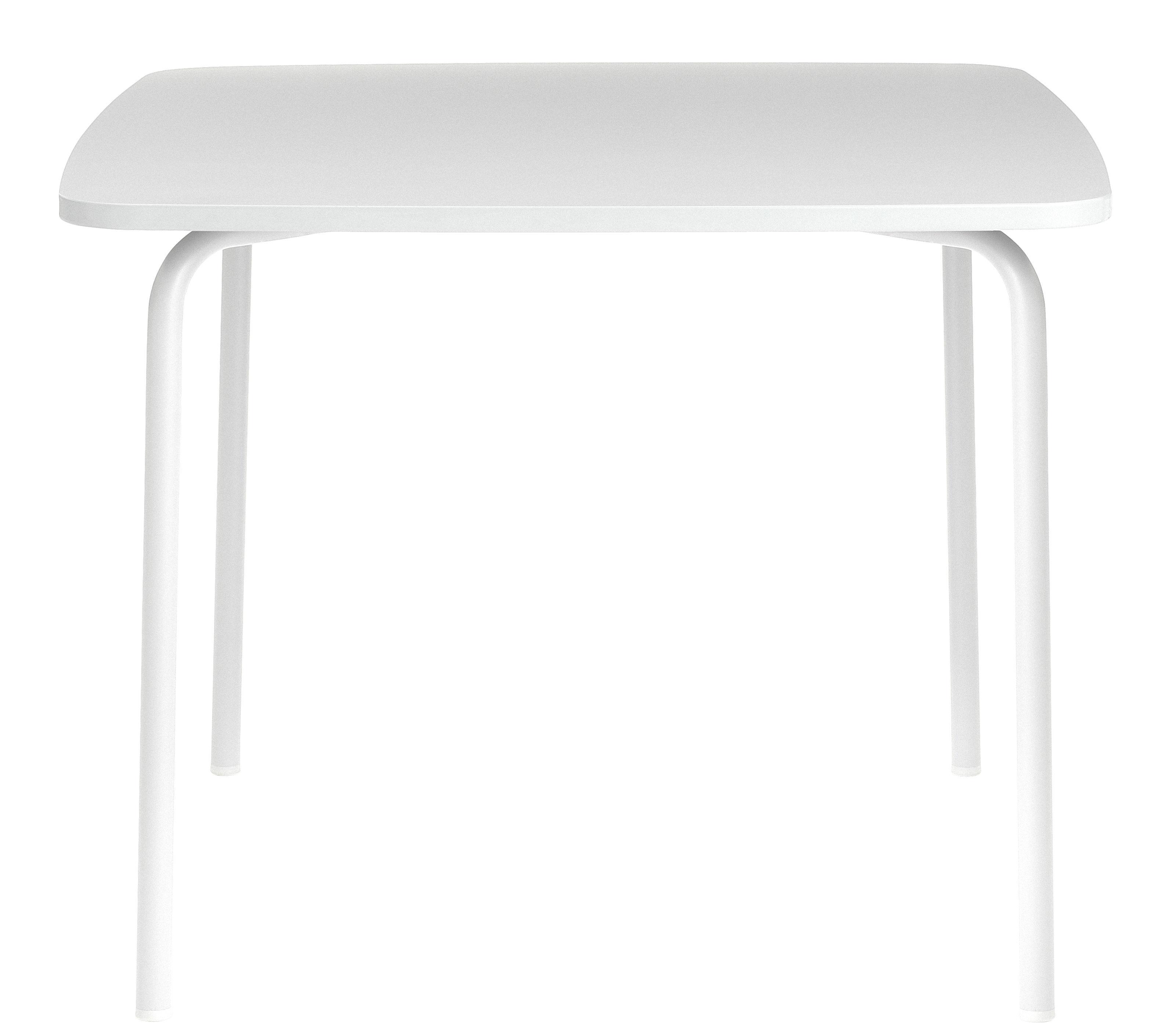 Mobilier - Tables - Table carrée My Table Small / 90 x 90 cm - Normann Copenhagen - Blanc - Acier laqué, Laminé