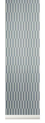 Déco - Stickers, papiers peints & posters - Papier peint Arch / 1 rouleau - Larg 53 cm - Ferm Living - Menthe / Blanc cassé - Toile intissée