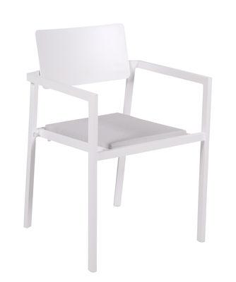 Image of Poltrona Perspective - / Alluminio - Cuscino incluso di Vlaemynck - Bianco - Metallo